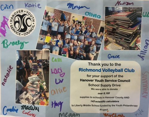 What a nice Thank You we received from the HYSC!