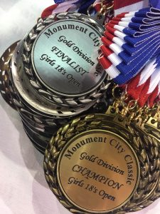 Monument City Classic volleyball tournament medals for winners