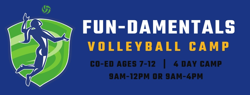 Fundamentals Volleyball Summer Camps at Richmond Volleyball Club for kids ages 7-12