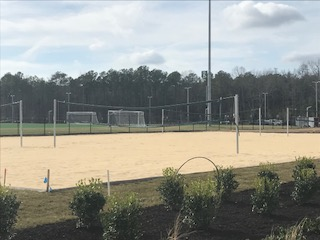 Sand volleyball courts located at Greenwood Park