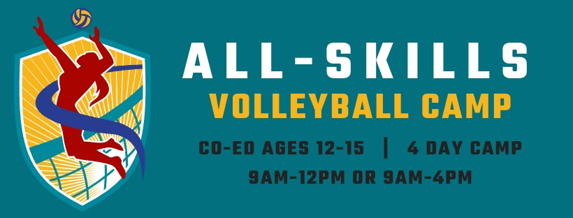 All Skills Volleyball Summer Camps at Richmond Volleyball Club for kids ages 12-15