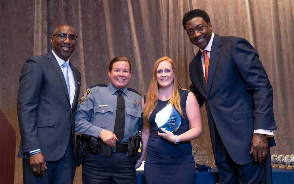 Richmond Volleyball Club Outreach Coordinator Kaitlin Baker received the Significant Contribution to Henrico PAL Award from the Richmond Police Athletic League
